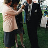 """Ly smith interviewing """"best dressed couple"""" Ros and Geoff Gestier"""