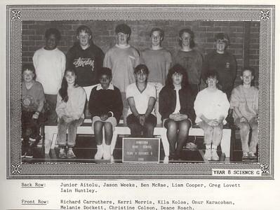 1990xxxx Year 8 Liz highschool
