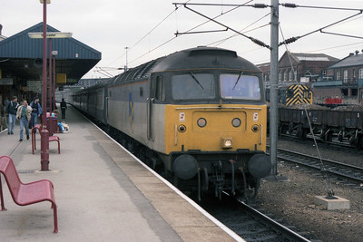 'Skeg' was obviously the place to be today, as 47359 arrives at Doncaster with 1D23 1440 Skegness-Leeds (19/05/1990)