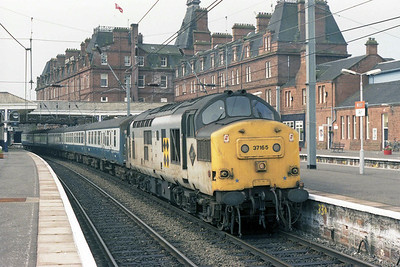 37165 is pictured again prior to departing Ayr with 1M94 (14/07/1990)