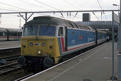 47573 'The London Standard' on arrival at Wolverhampton with 1M01 0718 from Paddington (01/09/1990)