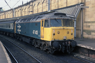 47413 at Carlisle with 2E38 1616 to Leeds (13/09/1990)