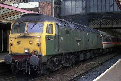 47500 is pictured again at Preston having taken over 1N16 1455 Euston-Blackpool for the 17.5 mile run to the coast (07/09/1990)