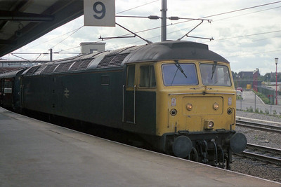 47344 is pictured again at York with 1N22 1021 Skegness-Newcastle (08/09/1990)