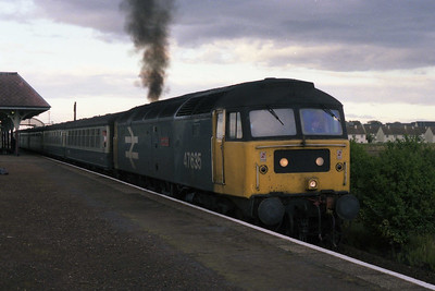 'Jimmy Milne' makes an impressive departure from Leuchars with 1B40 1555 Aberdeen-Edinburgh (25/09/1990)