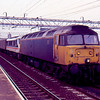 47846 + 90011 at Nuneaton working the 09:45 London Euston - Carlisle 27/01/90