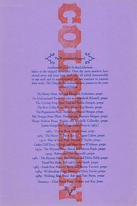 Colophon, 1990, Unknown