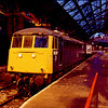 81017 at Liverpool Lime St 28/01/90. At the time of the picture this loco was one of the few Class 81s still in service but was only used to ferry coaching stock between Edge Hill Depot and Lime St station in Liverpool
