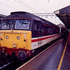 47586 at Crewe working the 11:25 Liverpool Lime St - London Euston 27/01/90