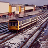 142027 departs Kirkham and Wesham working the 12:35 Liverpool Lime St - Blackpool North 28/01/90