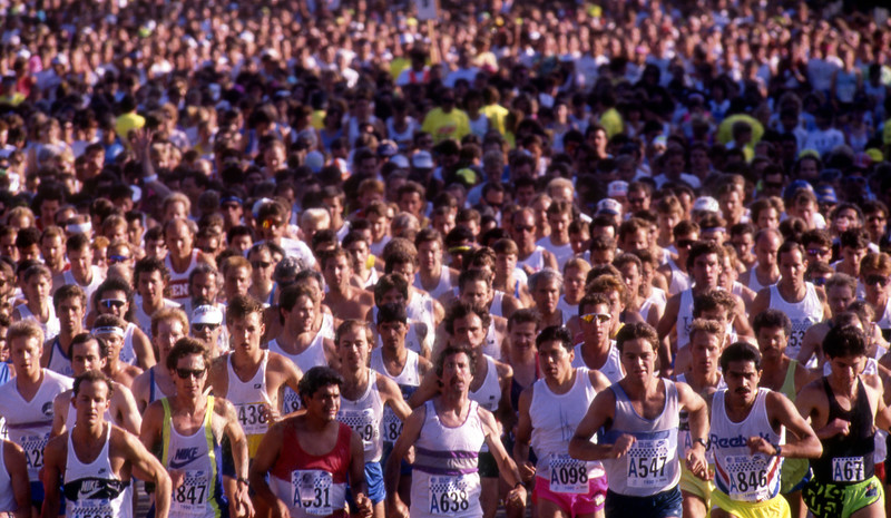 The start of the 1991 Bolder Boulder.