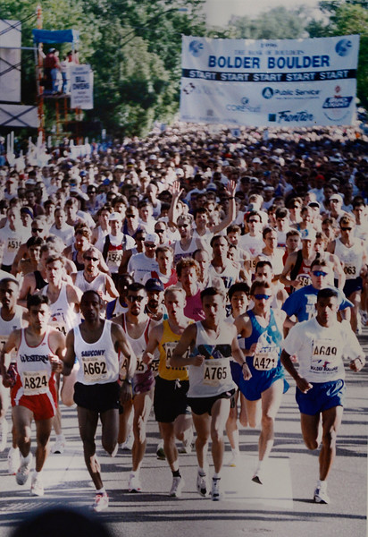 The start of the 1996 Bolder Boulder<br /> Photo by Cliff Grassmick