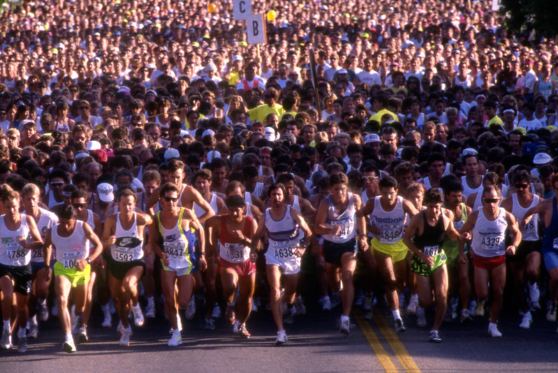 The start of the 1990 Bolder Boulder.