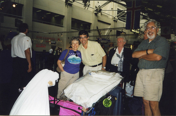 August 1994 - At Logan airport in Boston, flying back to Edinburgh after<br /> 3 week US break.