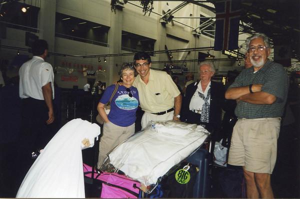 August 1994 - At Logan airport in Boston, flying back to Edinburgh after<br /> 3 week US break.