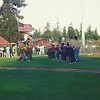 Brandon's cub scout troop doing the pledge of allegiance before the SJ giants game