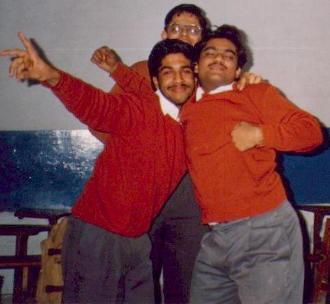 Nitin Gyanchandani, Gitesh Kumar (front) and Rohit Gurudev (back)