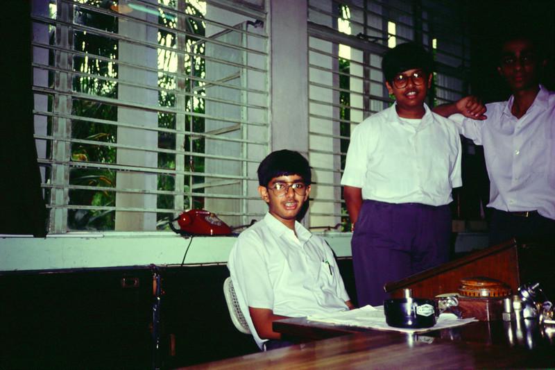 (from left) Arudra Burra, Shashank Singh, Rajiv Pant