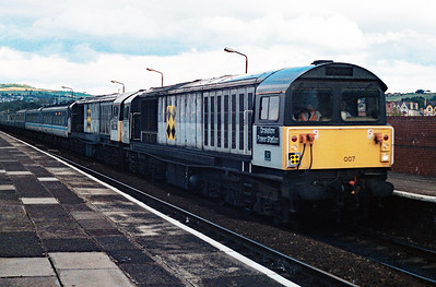 58 007 at Colwyn Bay on 11th August 1991