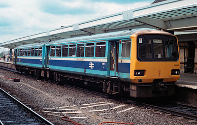 143 605 at Middlesbrough on 24th June 1991