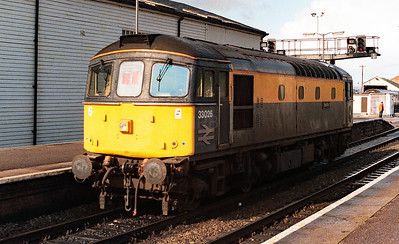 33 026 at Exeter St Davids on 18th october 1991