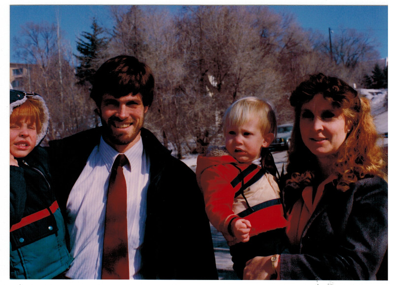 Chad, Sharon, Cody and Jacob Marcusen 1991