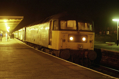 A slightly sharper image of 'Jimmy Milne' as it waits to depart with the final loco-hauled passenger train out of Barrow. Well, at least until the Summer of 1992, but we didn't know that at the time...(19/01/1991)