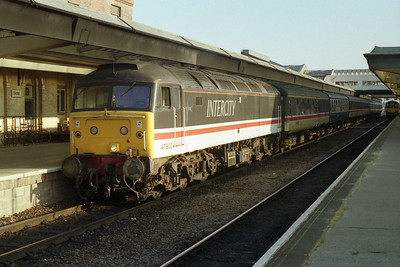 47802 waits to depart from Derby with 1V36 0710 to Bristol Temple Meads (25/05/1991)