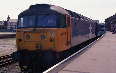 Another one down... 47325 is pictured on arrival at Holyead with 2D67 (03/08/1991)