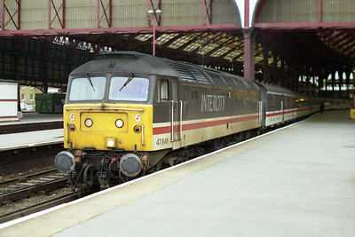 47846 'Thor' waits to depart from Brighton with 1M50 1420 to Manchester Piccadilly (07/11/1991)