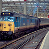 50003 at London Waterloo at the head of the 11:00 to Exeter St David's 15/02/91