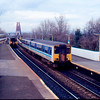 150284 working the 12:45 outer Fife Circle passes 150255 working the 11:52 Dundee - Edinburgh at Dalmally 14/03/91