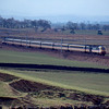 43038 + 43086 near Carstairs working the 09:58 Glasgow Central - London Kings Cross 14/03/91