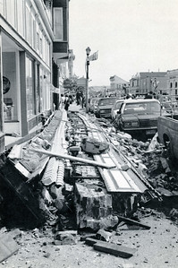 Ferndale businesses sustained extensive damages as a result of the Cape Mendocino quakes. (Photo by The Associated Press)