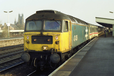 Another view of 47439 en route north with 1S39 - this time accompanied by some sunshine at Leamington (26/01/1992)