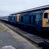 20154 + 20057 on arrival at Morecambe with the 13:28 from Manchester Vic 26/04/92