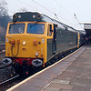 50007 + 50050 make a stop at Lancaster with the 08:05 London Waterloo - Carlisle 11/04/92