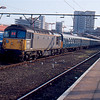 33116 at Southend Victoria working the Liverpool Leapfrog railtour 15:38 to Chingford, a destination we did not actually reach 29/02/92