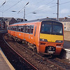 320303 departs Partick working the 13:08 Balloch - Durmgelloch 28/02/92