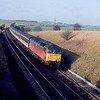 47489 passes Weedon with the 07:40 Euston - Heysham Port railtour 15/02/92