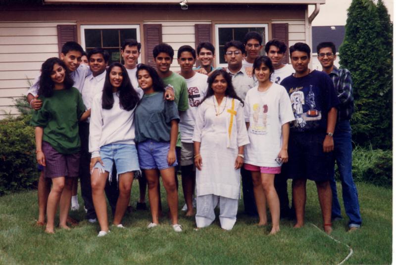 YJA Board/Planning Meeting - August 1993 - in Urmila Talsania's backyard OR in 1994 at Sunit and Seema Jain's house in Wheaton, IL? Unsure.