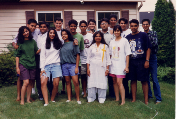 YJA Board/Planning Meeting - August 1993 - in Urmila Talsania's backyard OR in 1994 at Sunit and Seema Jain's house in Wheaton, IL? Unsure.