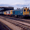 20066 + 20138 at Hereford after working the 12:13 from Worcester Shrub Hill 02/05/93