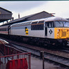 56115 at Salisbury working Pathfinder Railtours Scratcher railtour 24/04/93