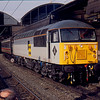 56129 at Newcastle Central working Pathfinder Railtours Tyne Tees Trekker 27/03/93