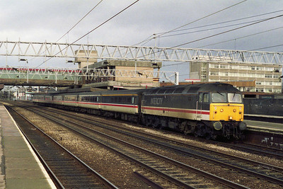 47810 calls at Stafford with the SuO 1O09 0800 Liverpool Lime Street-Poole (24/01/1993)