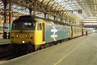 47513 'Severn' is pictured on arrival a Manchester Piccadilly with the SuO 1H95 1100 ex-Birmingham (03/01/1993)