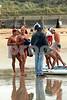 Ocean Grove Carnival<br /> 19 Feb 1995<br /> Board Rescue Debrief<br /> L-R<br /> Talbot Henry<br /> John Bodna<br /> Jono Bradbury<br /> Sam Hume - bending<br /> Shane Edmonds