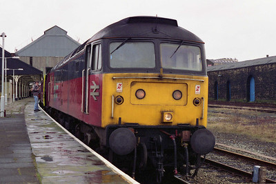 47779 calls at Blackburn with ECS Railtours' 0831 Stockport-Carlisle charter via the Hope Valley, Copy Pit and Cumbrian Coast (05/03/1994)