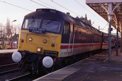 47820 calls at Penrith with Lancaster Railtours' 0540 'Moray Firth Express' charter from Preston to Inverness (19/03/1994)